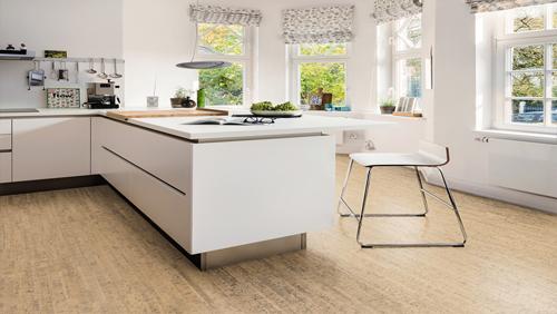 Parquet sol en liège - Liege design arcos blanc antique haro corkett tc 298x907x11mm
