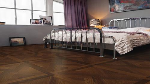 Parquet flottant chêne huilé - Dalle frene design st andrew arabica mezzo certifié pefc 70% (65x65 = 0.42m²) vendu par piece