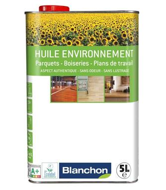 Accessoire et finition - Huile environnement blanchon 5l aspect bois brut blanchon<br /> capacite 15m²/l (huile pour bois clair, blanchit)