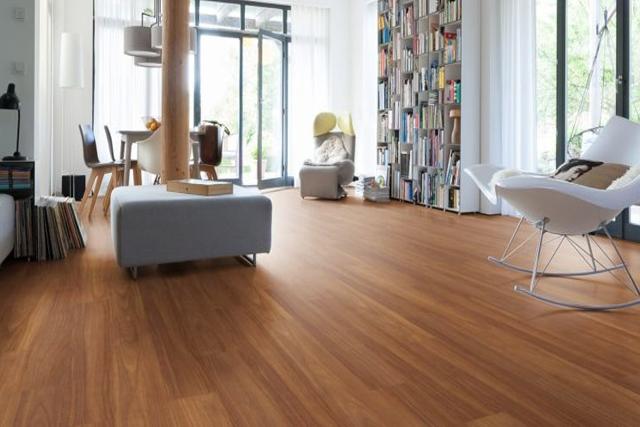 Parquet flottant bois exotique verni - Iroko contrecolle verni lisse satine monolame go-2 145x14.2x1820