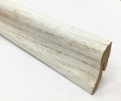 Plinthe de haute qualite - Plinthe mdf canyon blanc 40x22x2400