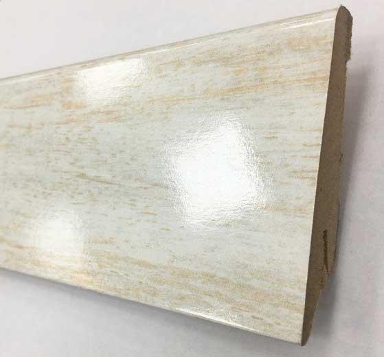 Plinthe de haute qualite - Plinthe mdf glamour aragon blanc 80x19x2400