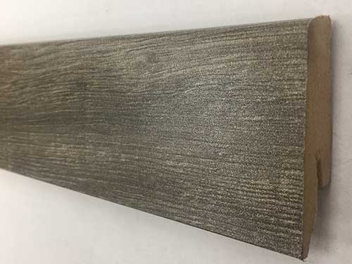 Plinthe de haute qualite - Plinthe mdf gala titane (m1016) 58x19x2400