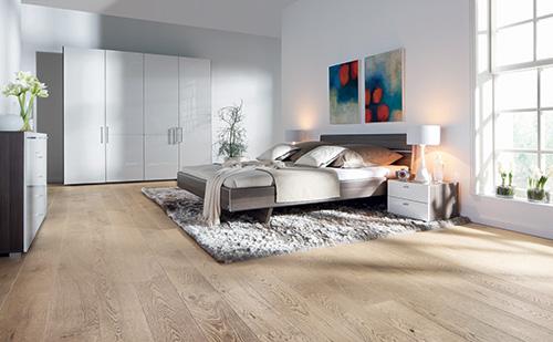 Parquet massif chêne huilé - Berne - chêne massif huilé brossé aspect bois brut 160x15mm certifié fsc 100 %