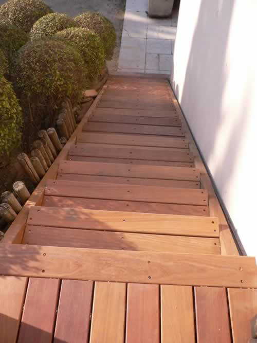 Lots fin de série parquet - Lame de terrasse ipe brut lisse 2 faces 145x21x 900-1500mm - lot de 23m²