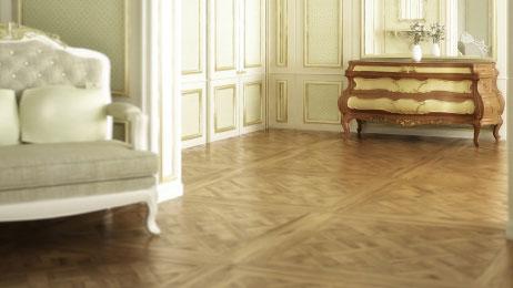 Dalles parquet versailles - Chêne massif versailles brut rustique 900x900x14mm