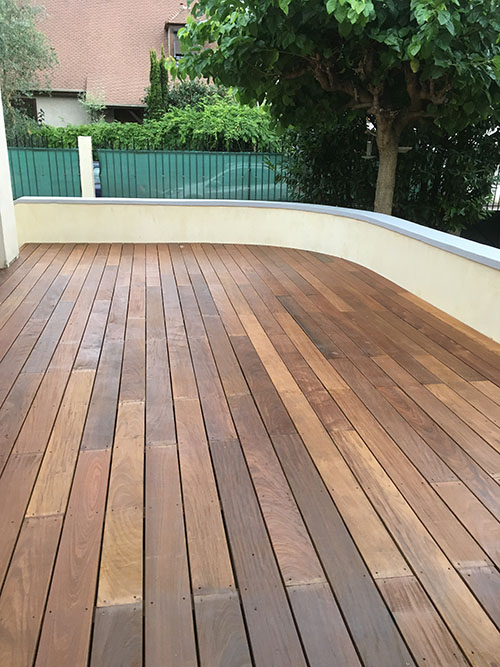 LAME DE TERRASSE SOPHIA IPE BRUT DECK CLIPSABLE 1 FACE LISSE 140x21x 450-700mm