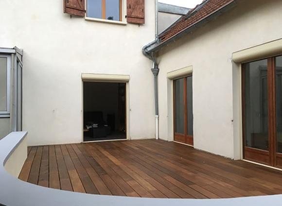 Lames de terrasse bois massif - Lame de terrasse awa ipe brut deck clipsable 1 face lisse 145*21*1200