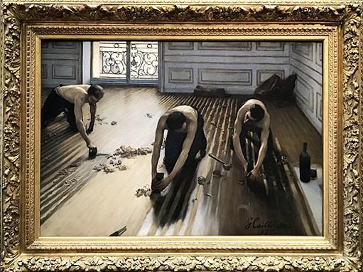 Les raboteurs de parquet de Gustave Caillebotte (1848 - 1894)