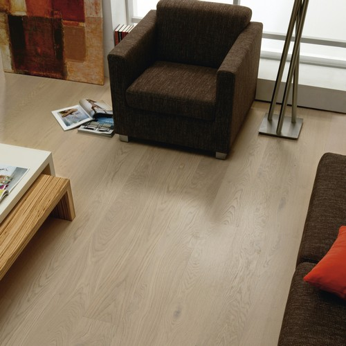 Parquet ch�ne lame extra large (grande tendance) teint� huil� blanchi