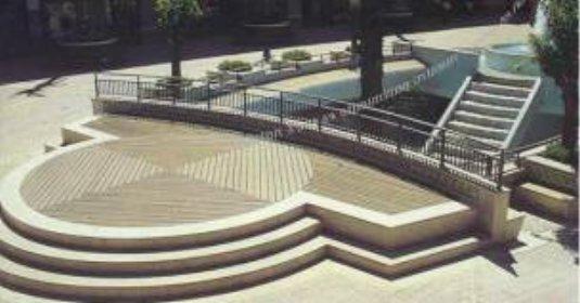 Parquet lames de terrasse posées à façon